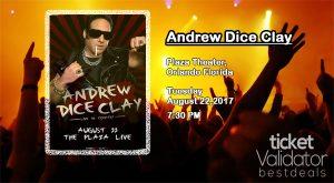Andrew Dice Clay Ticket Validator