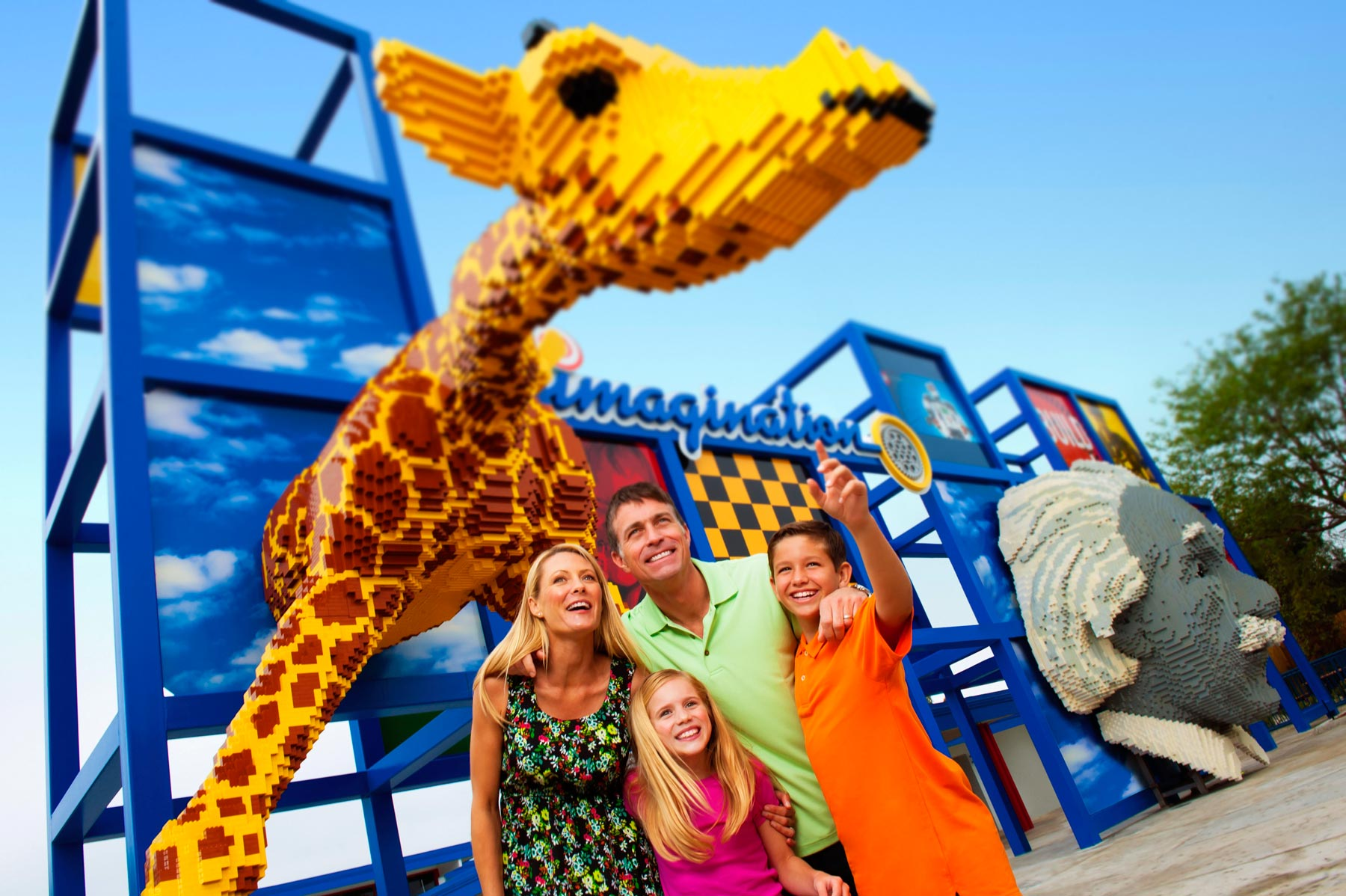 Family in the Legoland